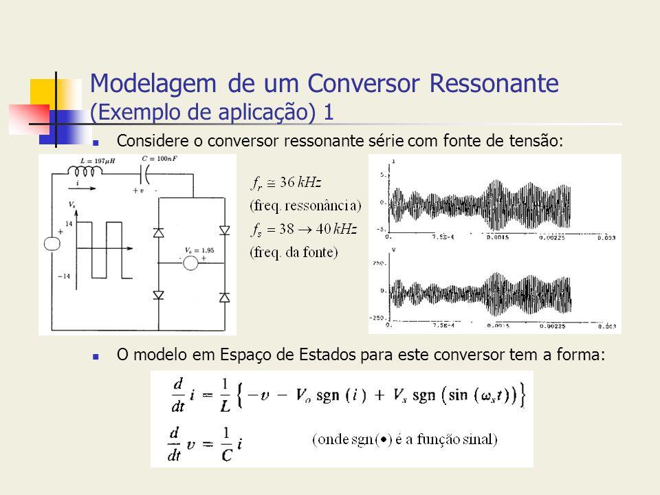 Modelagem de um Conversor Ressonante (Exemplo de aplicação) 1