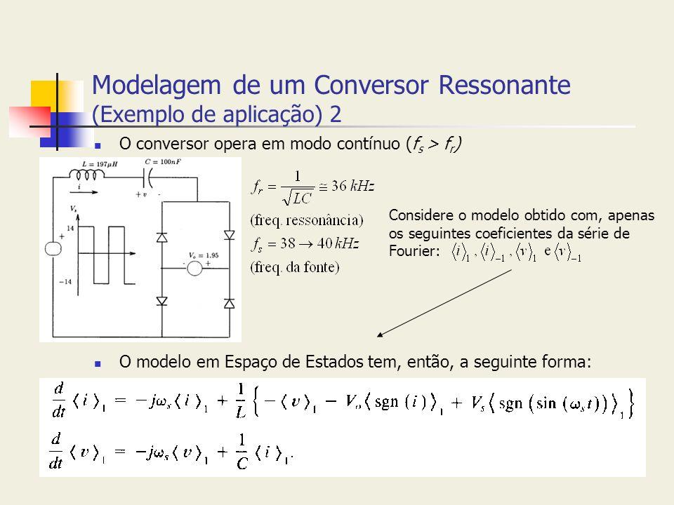 Modelagem de um Conversor Ressonante (Exemplo de aplicação) 2