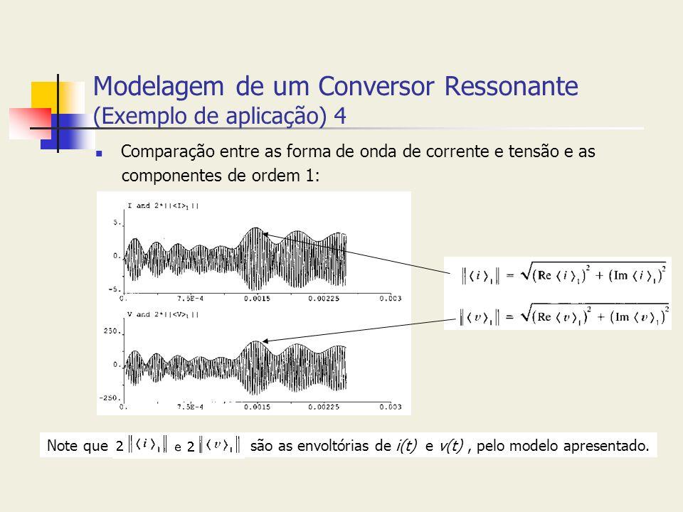 Modelagem de um Conversor Ressonante (Exemplo de aplicação) 4