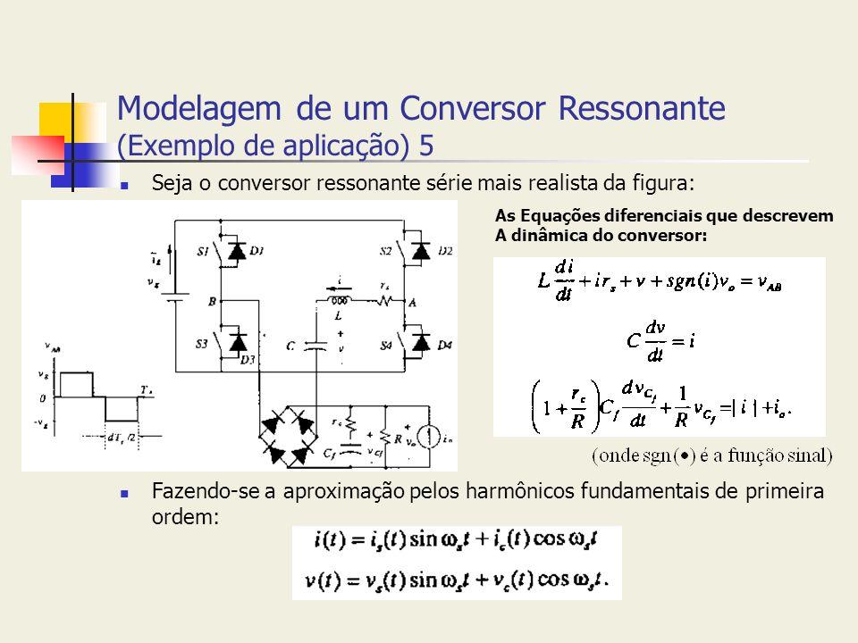 Modelagem de um Conversor Ressonante (Exemplo de aplicação) 5