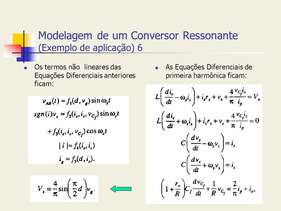 Modelagem de um Conversor Ressonante (Exemplo de aplicação) 6