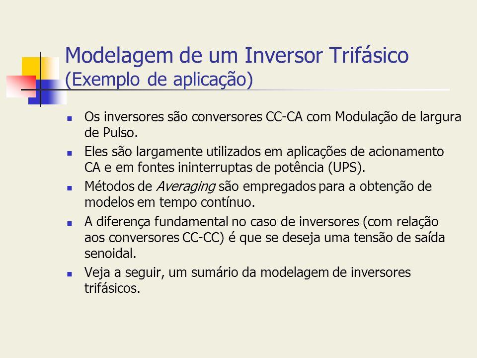 Modelagem de um Inversor Trifásico (Exemplo de aplicação)