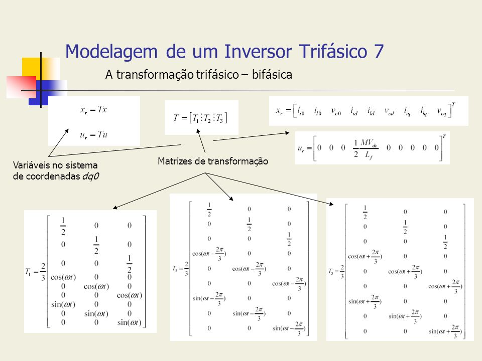 Modelagem de um Inversor Trifásico 7