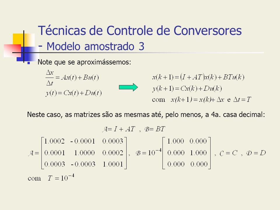 Técnicas de Controle de Conversores - Modelo amostrado 3