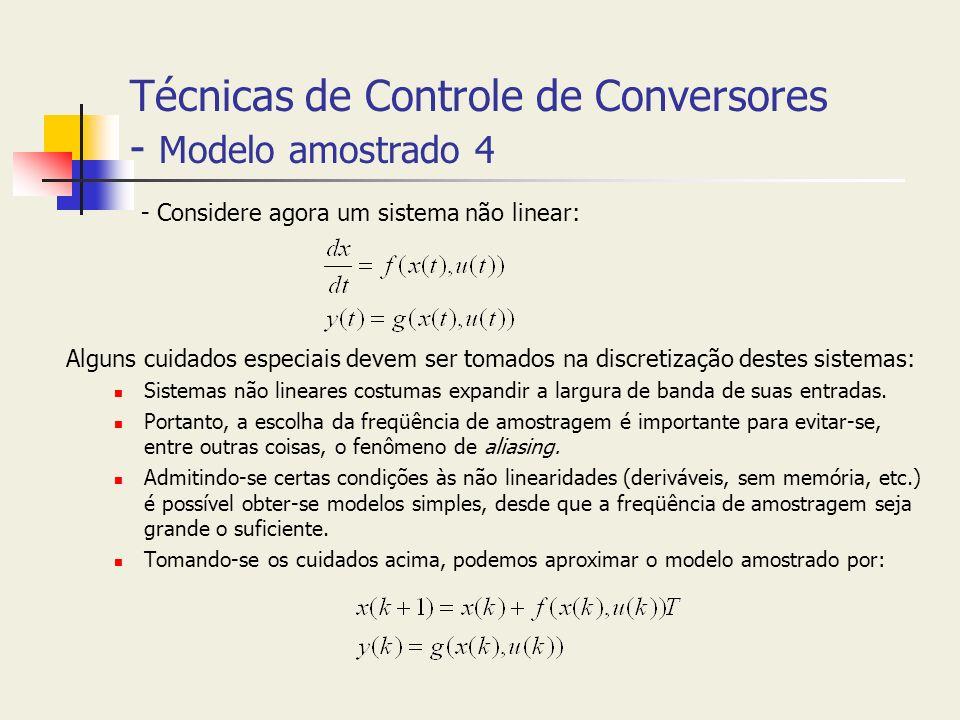 Técnicas de Controle de Conversores - Modelo amostrado 4