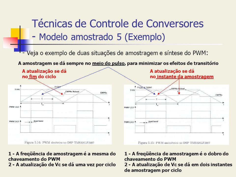 Técnicas de Controle de Conversores - Modelo amostrado 5 (Exemplo)