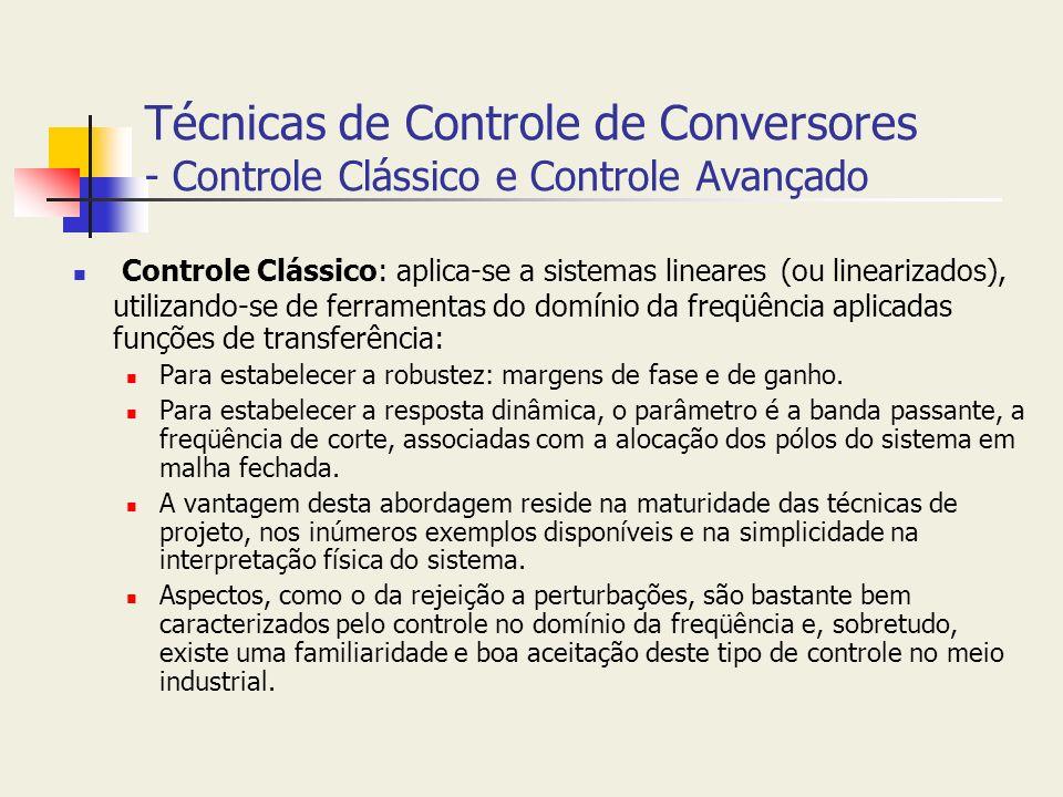 Técnicas de Controle de Conversores - Controle Clássico e Controle Avançado
