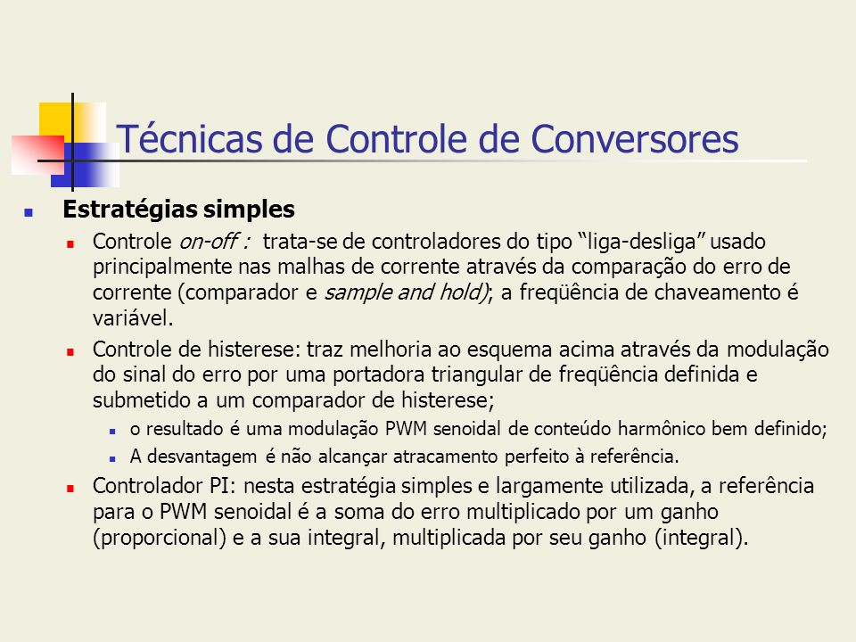 Técnicas de Controle de Conversores