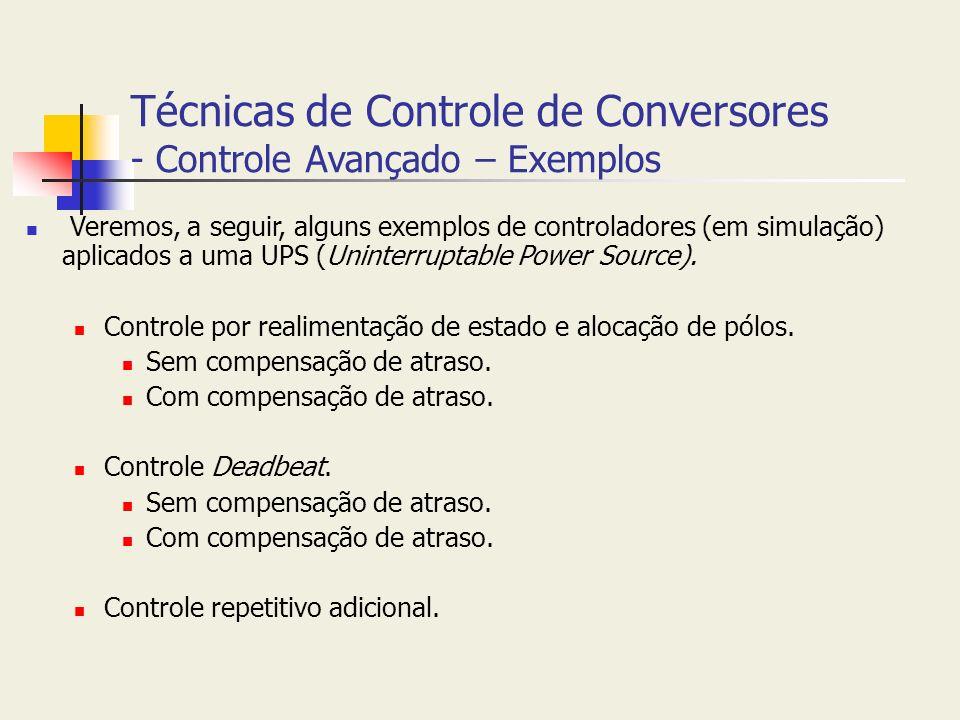 Técnicas de Controle de Conversores - Controle Avançado – Exemplos