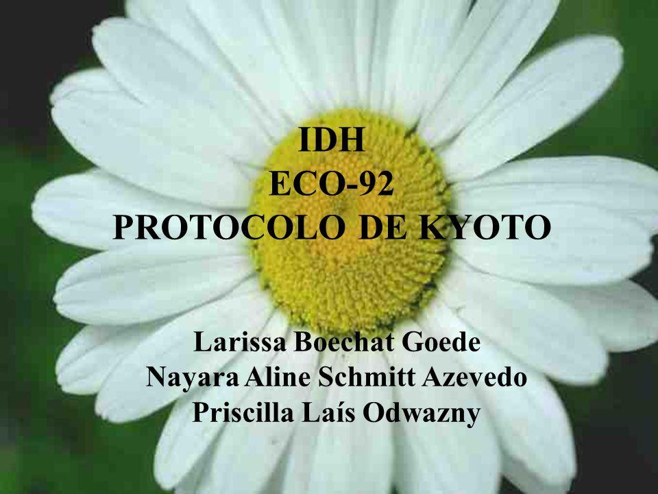 IDH ECO-92 PROTOCOLO DE KYOTO