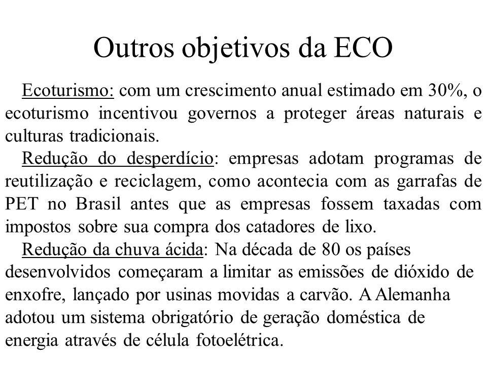 Outros objetivos da ECO