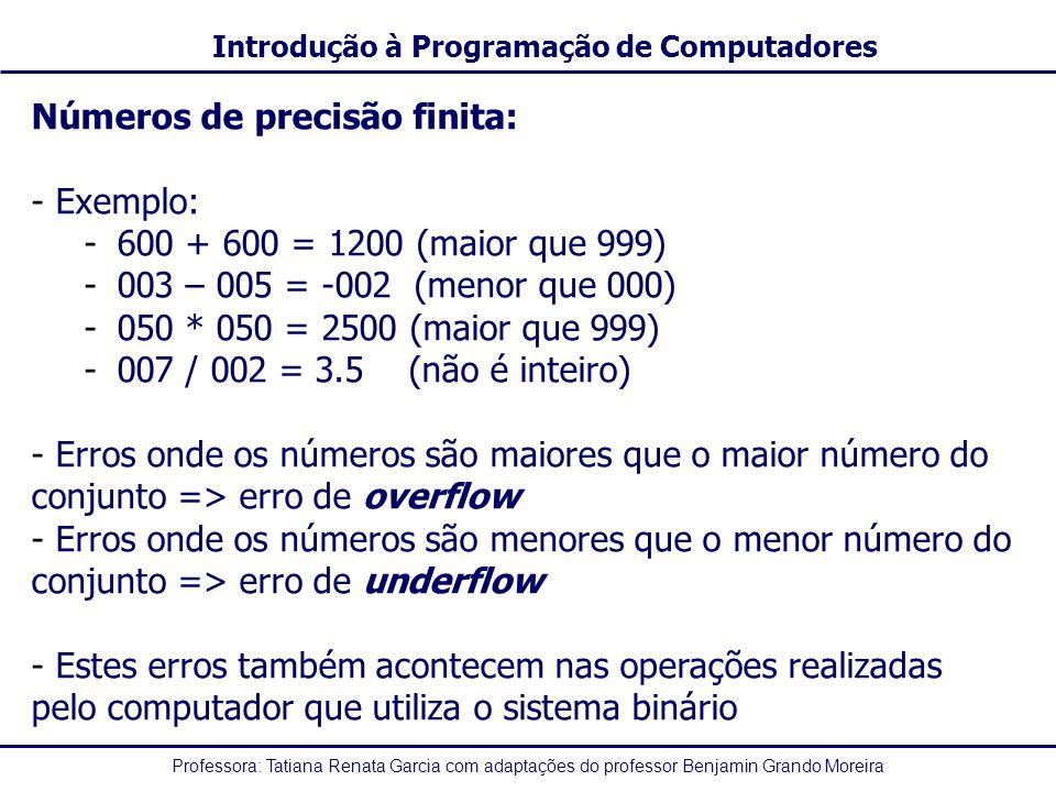 Números de precisão finita: