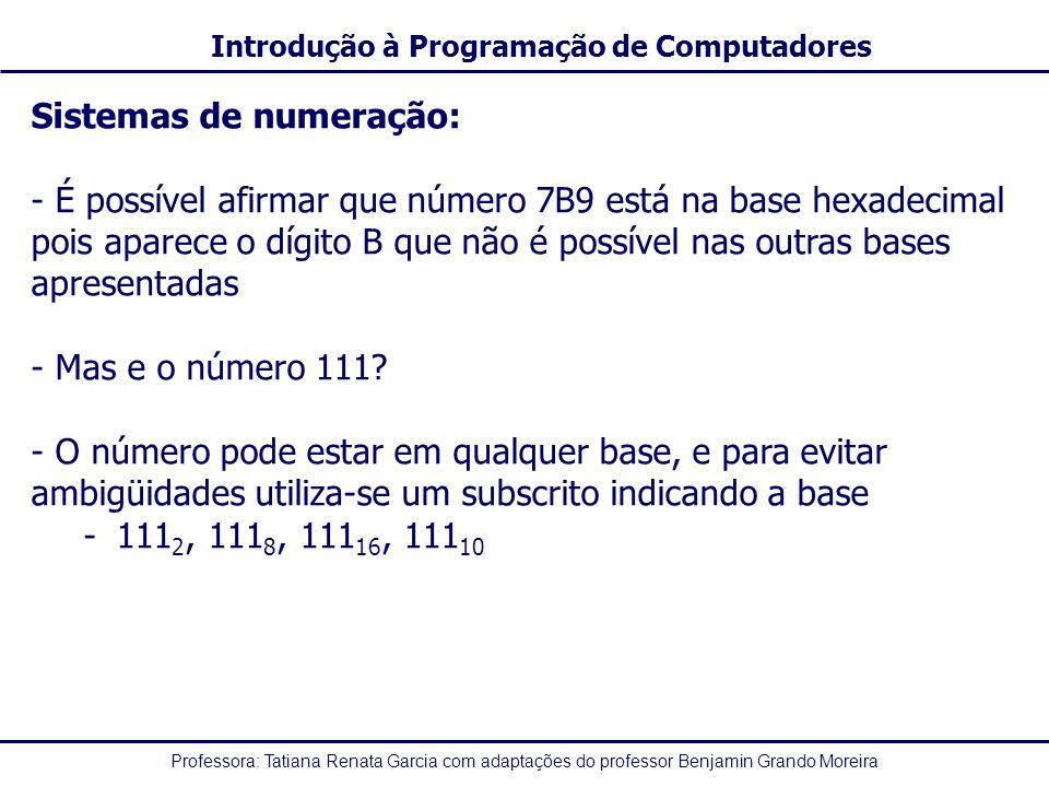 Sistemas de numeração: