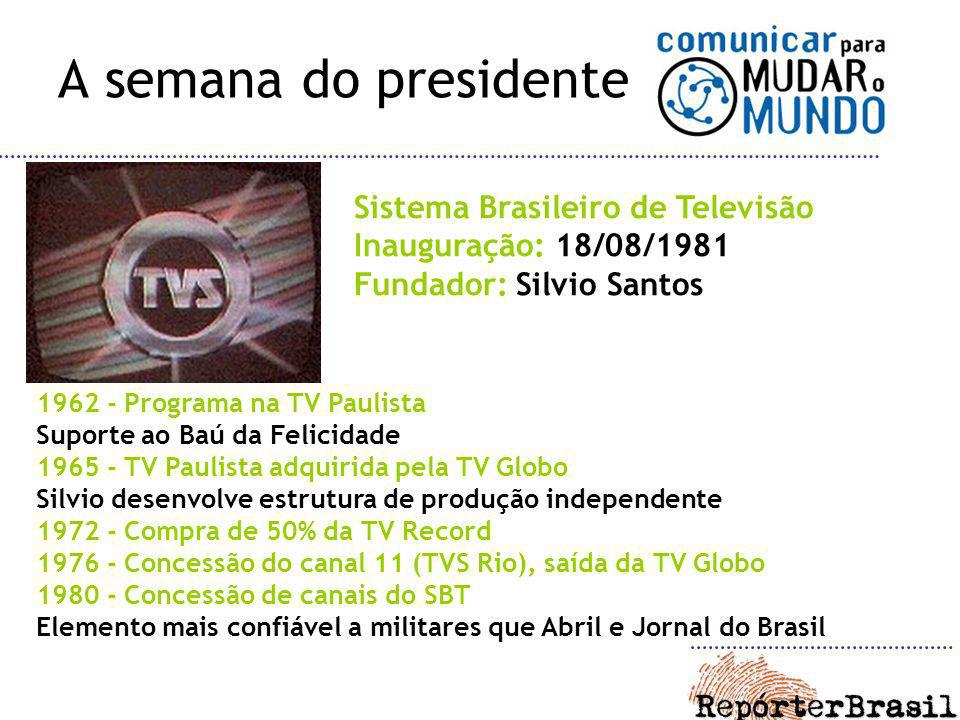 A semana do presidente Sistema Brasileiro de Televisão
