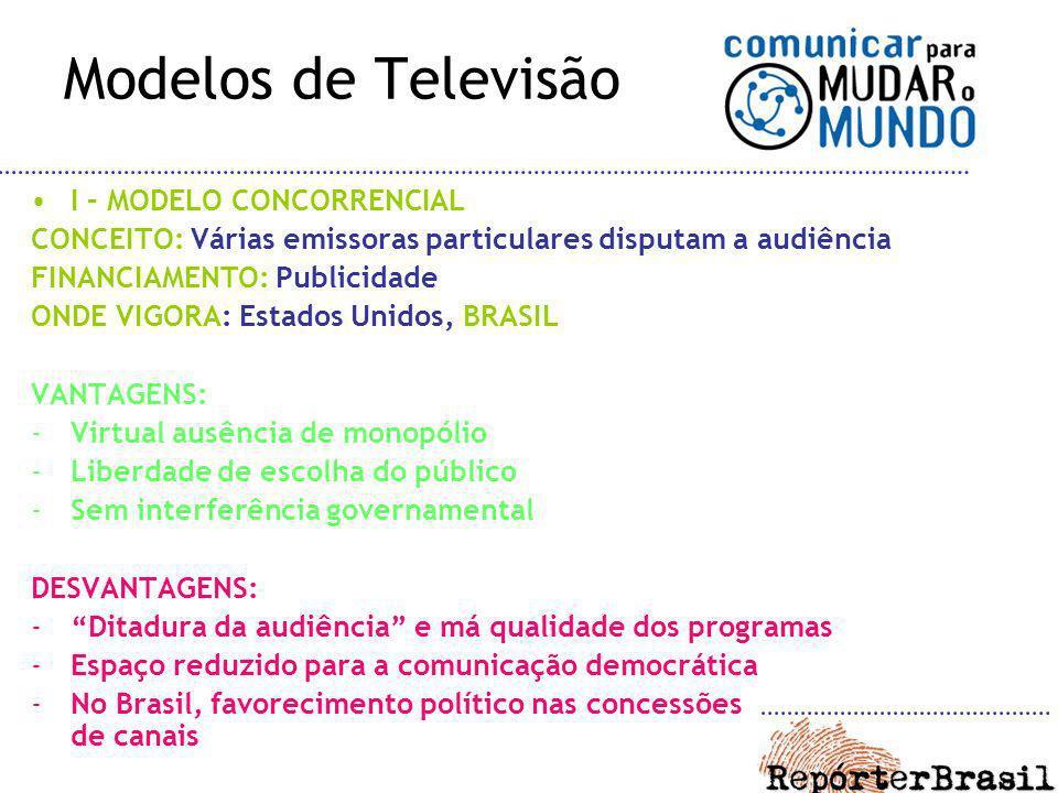 Modelos de Televisão I – MODELO CONCORRENCIAL
