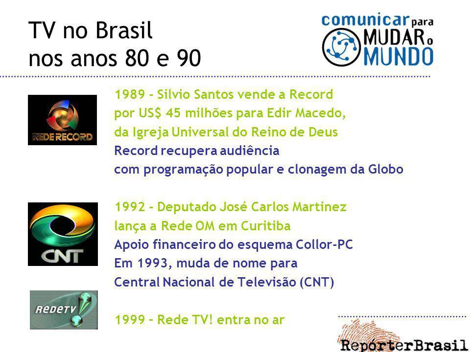 TV no Brasil nos anos 80 e 90 1989 - Silvio Santos vende a Record