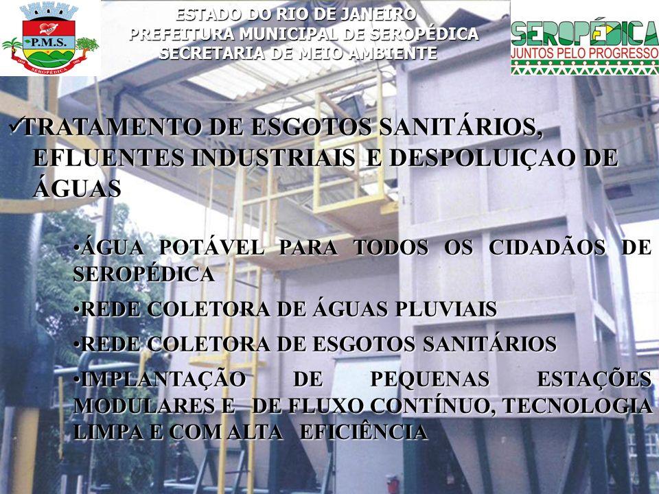 TRATAMENTO DE ESGOTOS SANITÁRIOS,