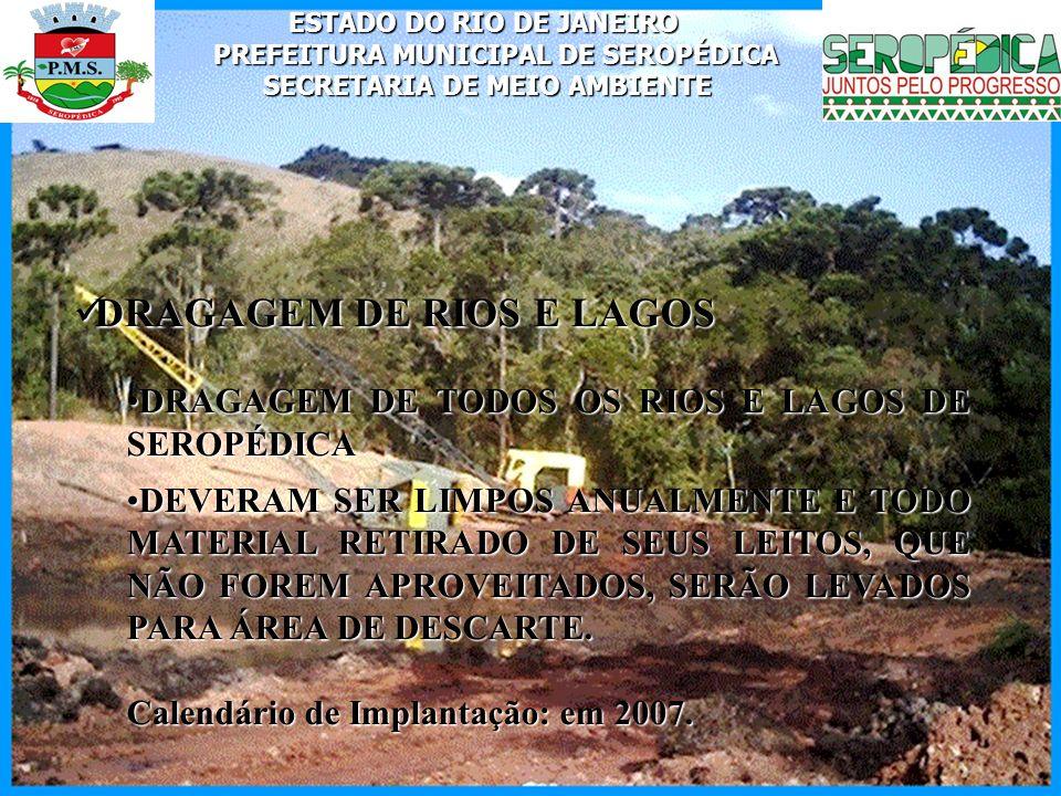 DRAGAGEM DE RIOS E LAGOS
