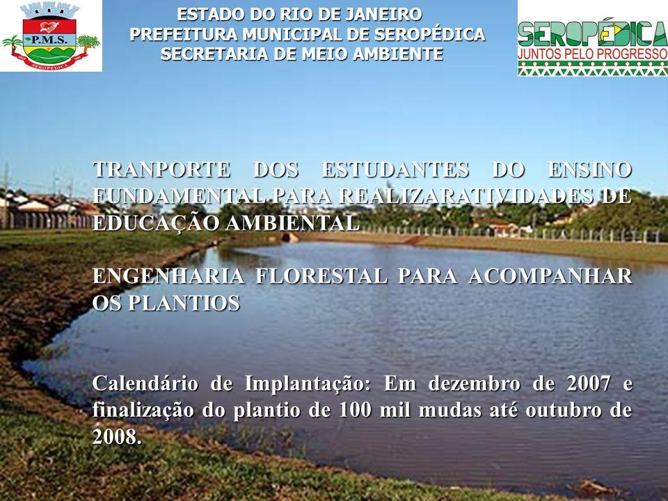 ENGENHARIA FLORESTAL PARA ACOMPANHAR OS PLANTIOS