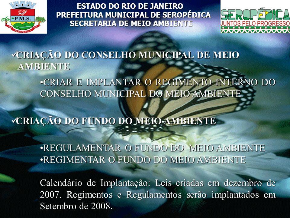 CRIAÇÃO DO CONSELHO MUNICIPAL DE MEIO AMBIENTE