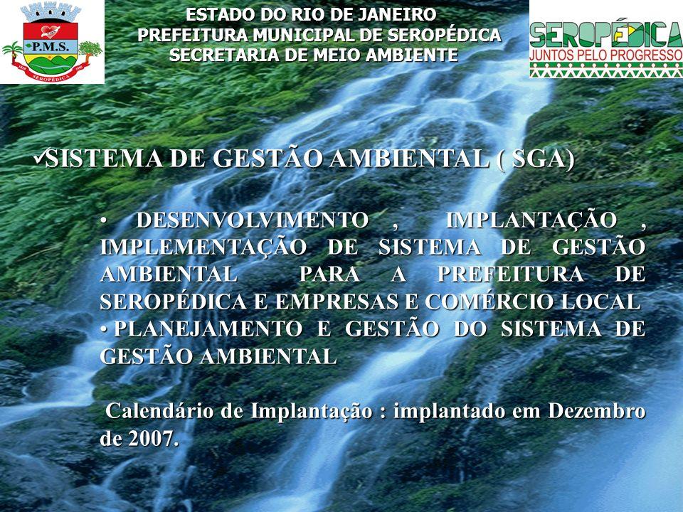 SISTEMA DE GESTÃO AMBIENTAL ( SGA)