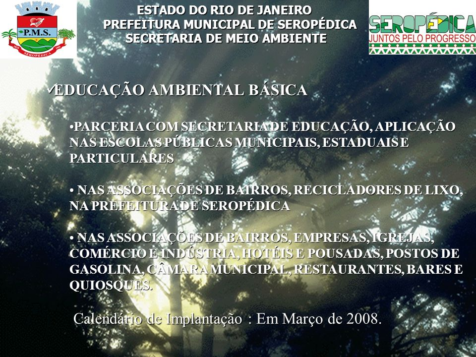 EDUCAÇÃO AMBIENTAL BÁSICA