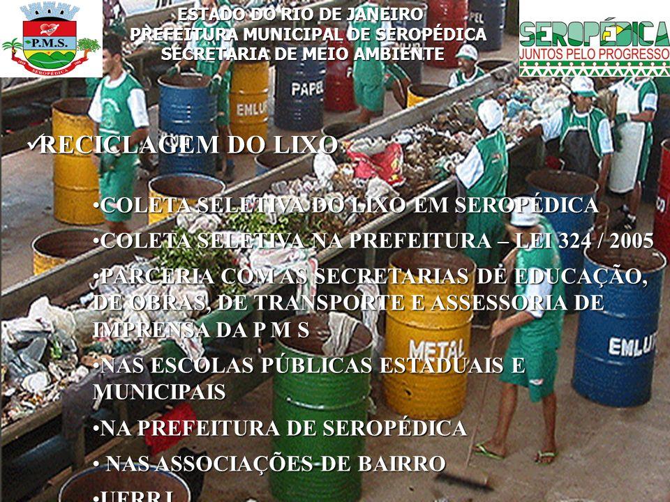 RECICLAGEM DO LIXO COLETA SELETIVA DO LIXO EM SEROPÉDICA