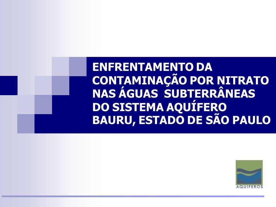 ENFRENTAMENTO DA CONTAMINAÇÃO POR NITRATO NAS ÁGUAS SUBTERRÂNEAS DO SISTEMA AQUÍFERO BAURU, ESTADO DE SÃO PAULO