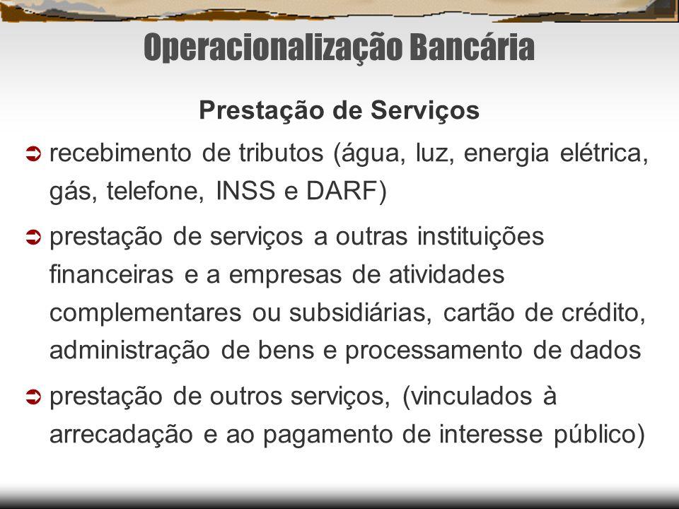 Operacionalização Bancária