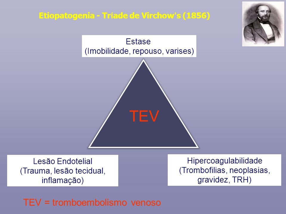 Etiopatogenia - Tríade de Virchow's (1856)