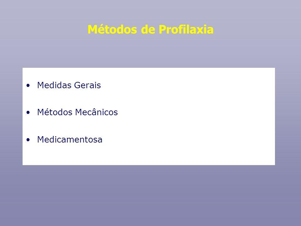 Métodos de Profilaxia Medidas Gerais Métodos Mecânicos Medicamentosa