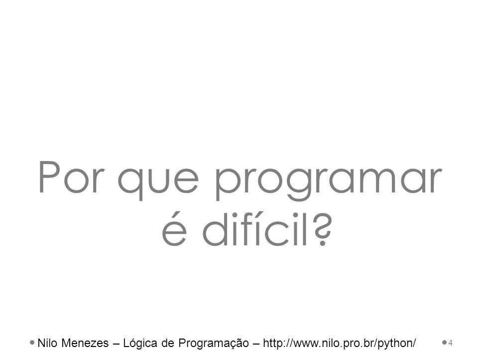 Por que programar é difícil