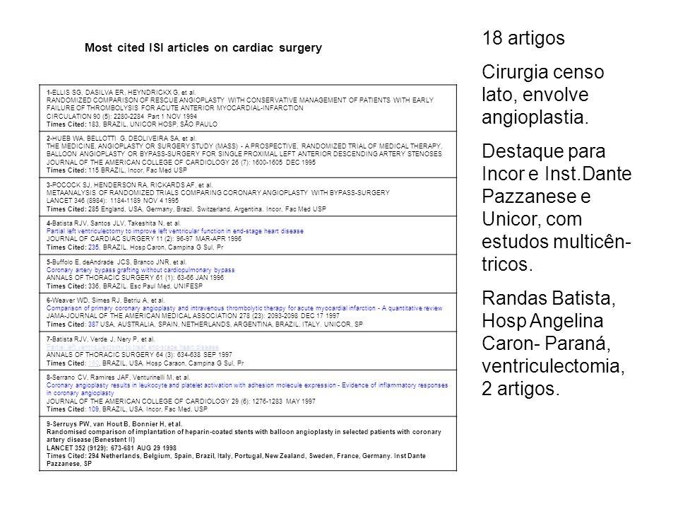 Cirurgia censo lato, envolve angioplastia.
