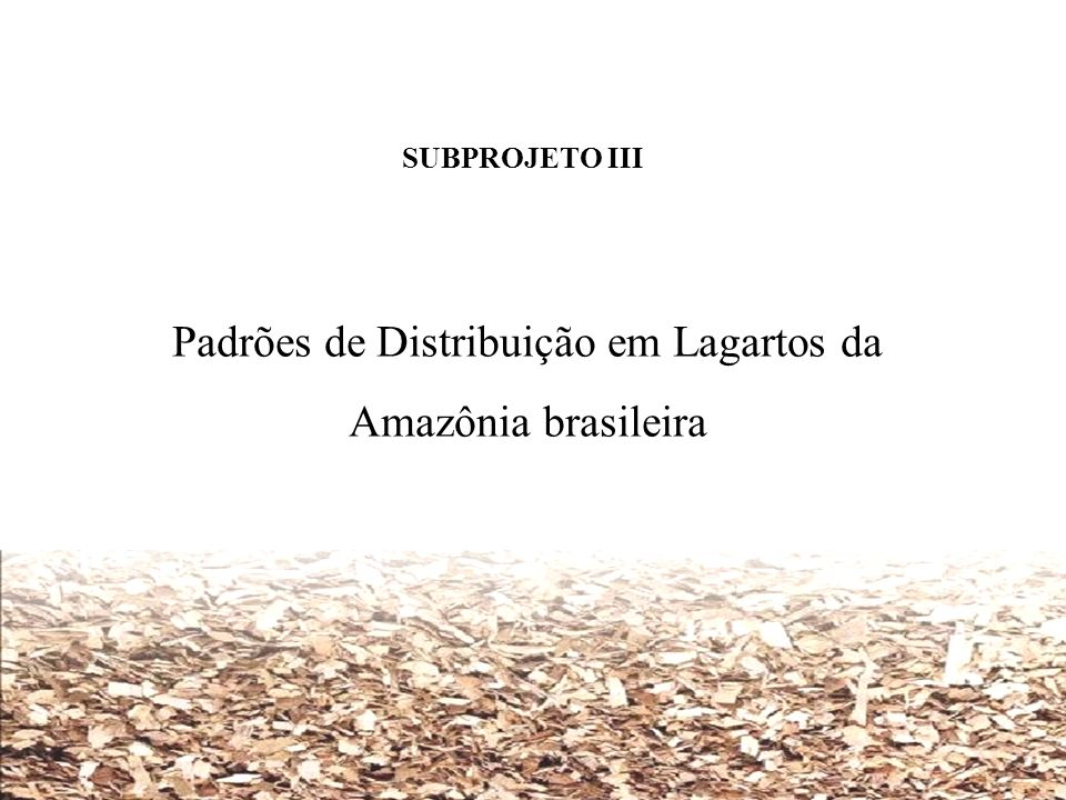 Padrões de Distribuição em Lagartos da Amazônia brasileira
