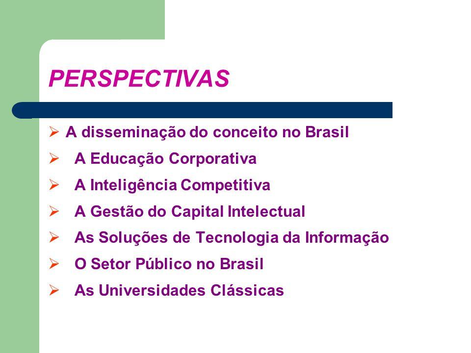 PERSPECTIVAS A disseminação do conceito no Brasil