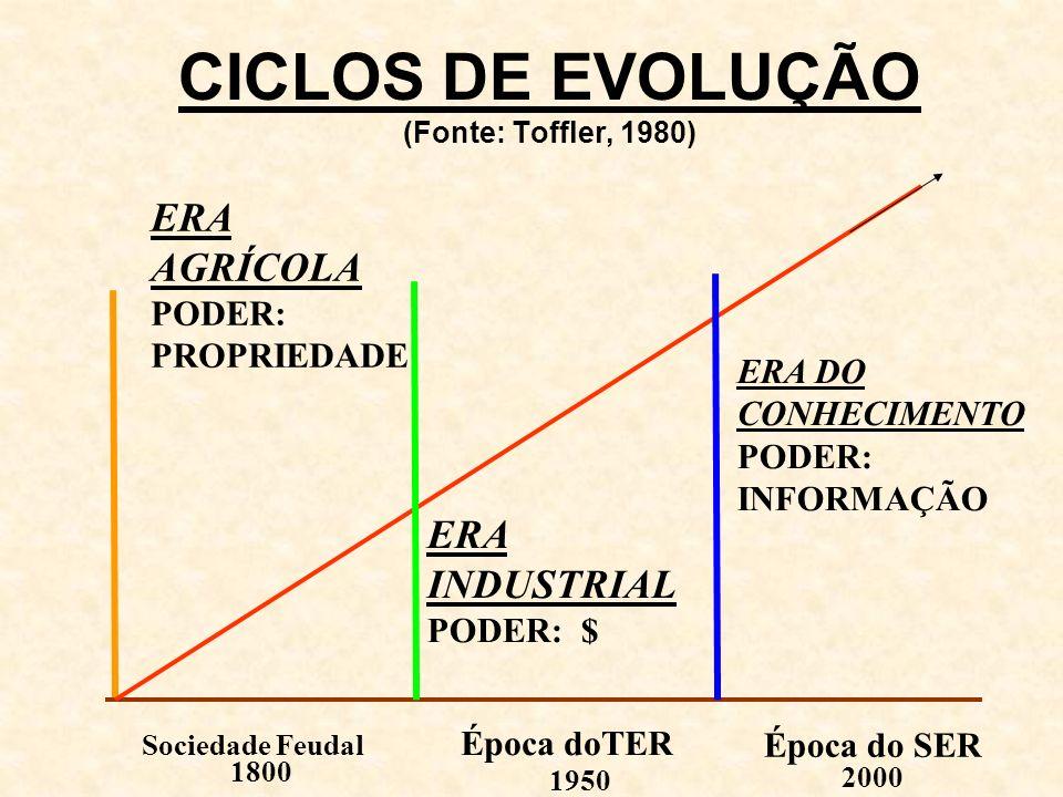 CICLOS DE EVOLUÇÃO (Fonte: Toffler, 1980)
