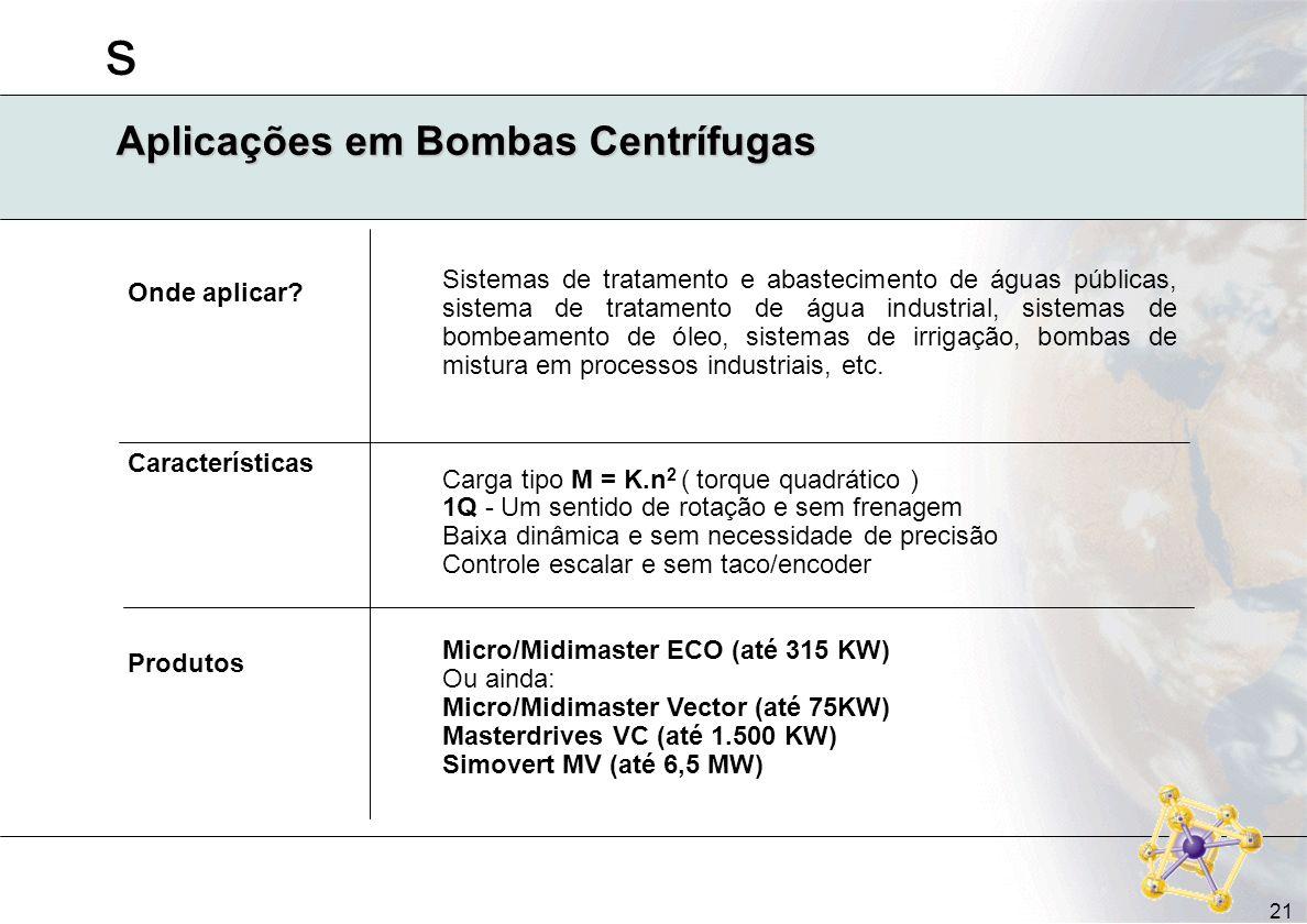 Aplicações em Bombas Centrífugas