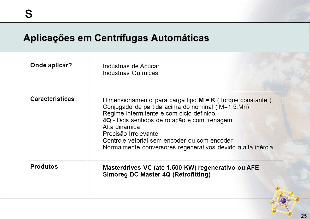 Aplicações em Centrífugas Automáticas