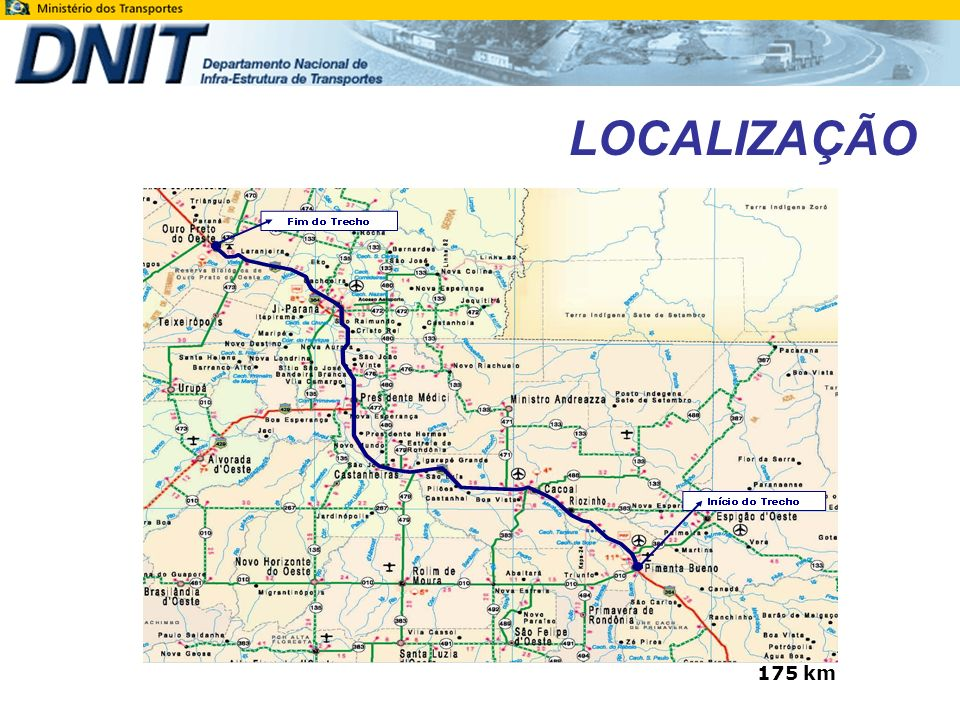 LOCALIZAÇÃO 175 km