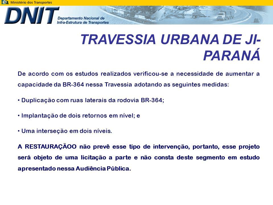 TRAVESSIA URBANA DE JI-PARANÁ