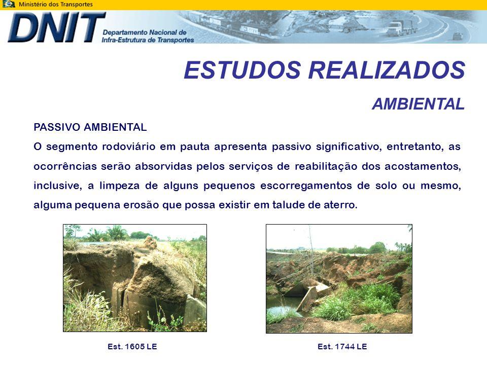 ESTUDOS REALIZADOS AMBIENTAL PASSIVO AMBIENTAL