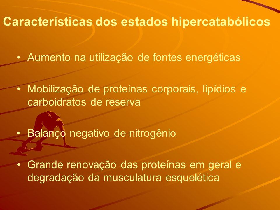Características dos estados hipercatabólicos
