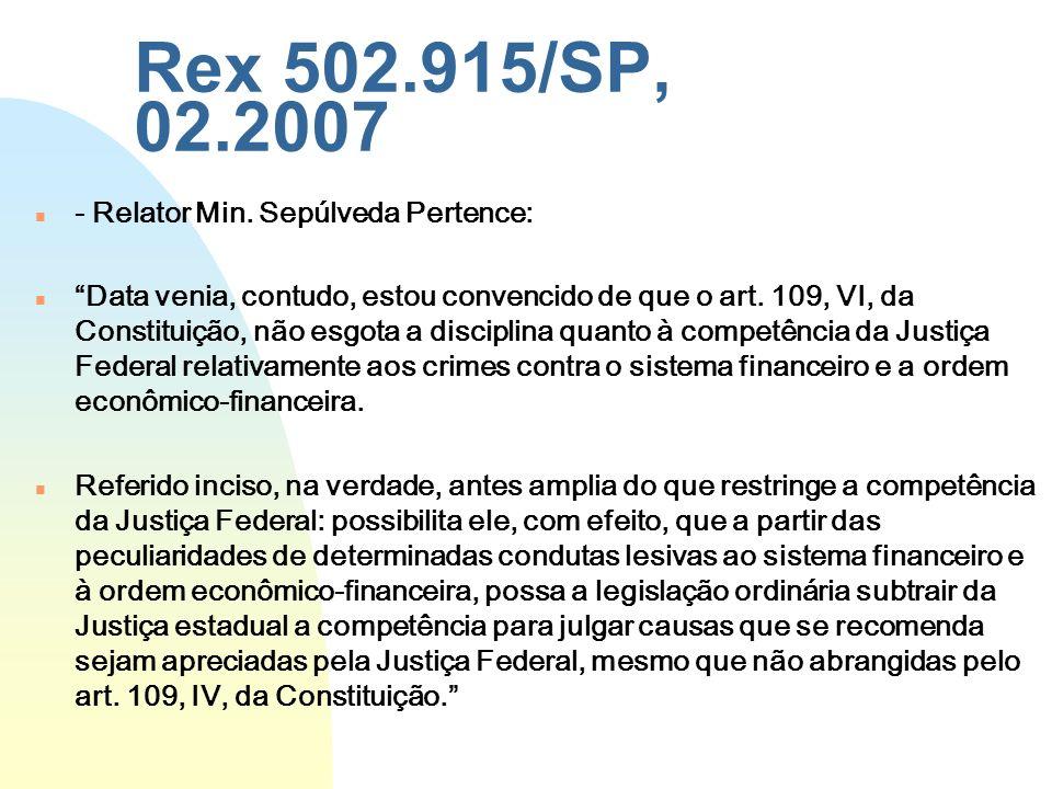 Rex 502.915/SP, 02.2007 - Relator Min. Sepúlveda Pertence: