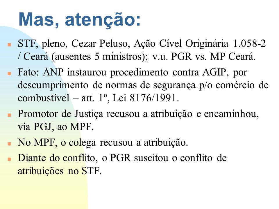 3/23/2017 Mas, atenção: STF, pleno, Cezar Peluso, Ação Cível Originária 1.058-2 / Ceará (ausentes 5 ministros); v.u. PGR vs. MP Ceará.