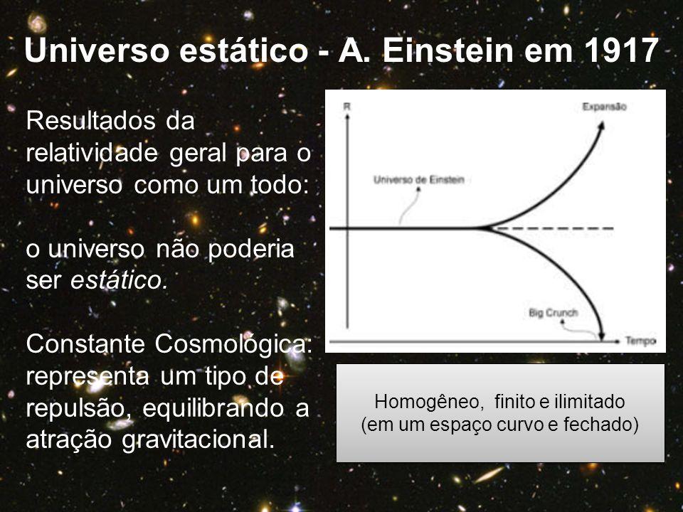 Universo estático - A. Einstein em 1917