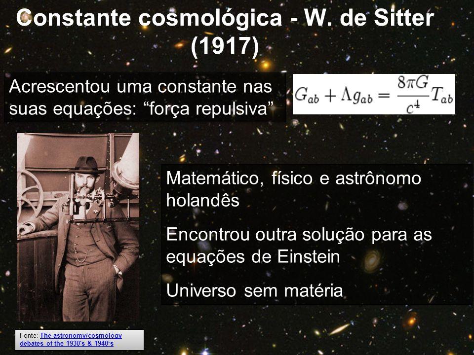 Constante cosmológica - W. de Sitter (1917)