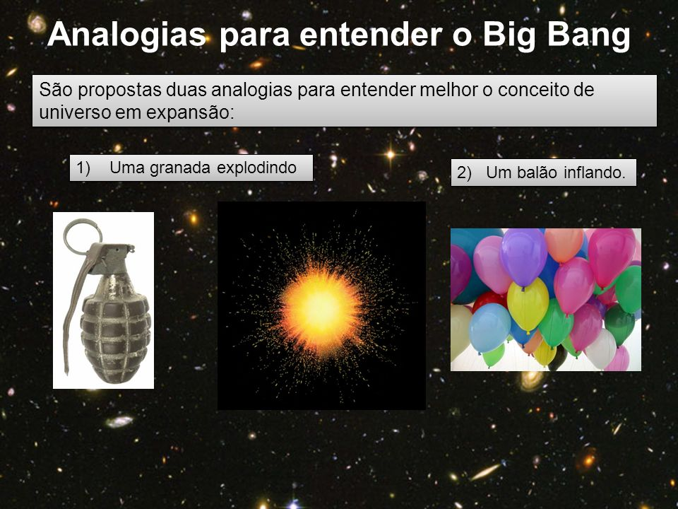Analogias para entender o Big Bang