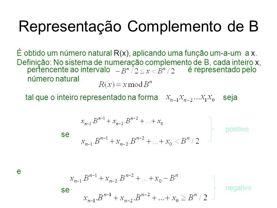 Representação Complemento de B