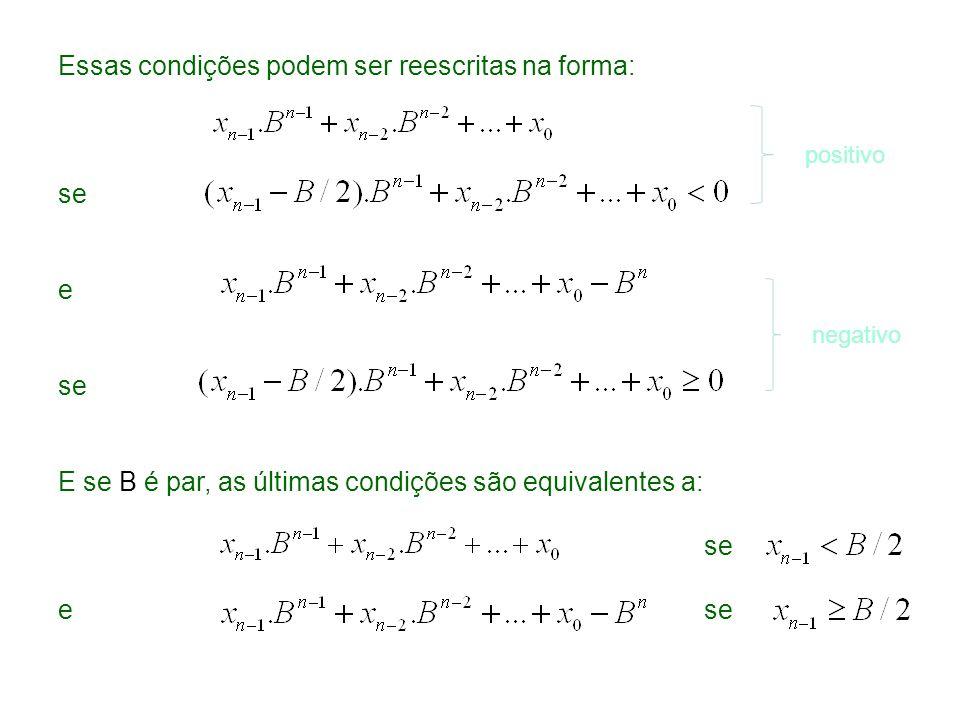 Essas condições podem ser reescritas na forma: