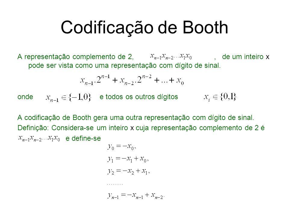 Codificação de Booth